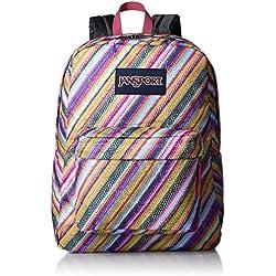 JanSport Superbreak Backpack- Discontinued Colors (Multi Texture Stripe)