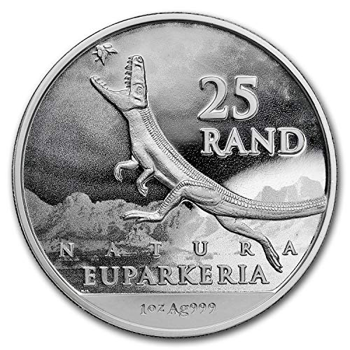 2019 ZA South Africa 1 oz Silver Natura Dinosaur: Euparkeria BU 1 OZ About Uncirculated