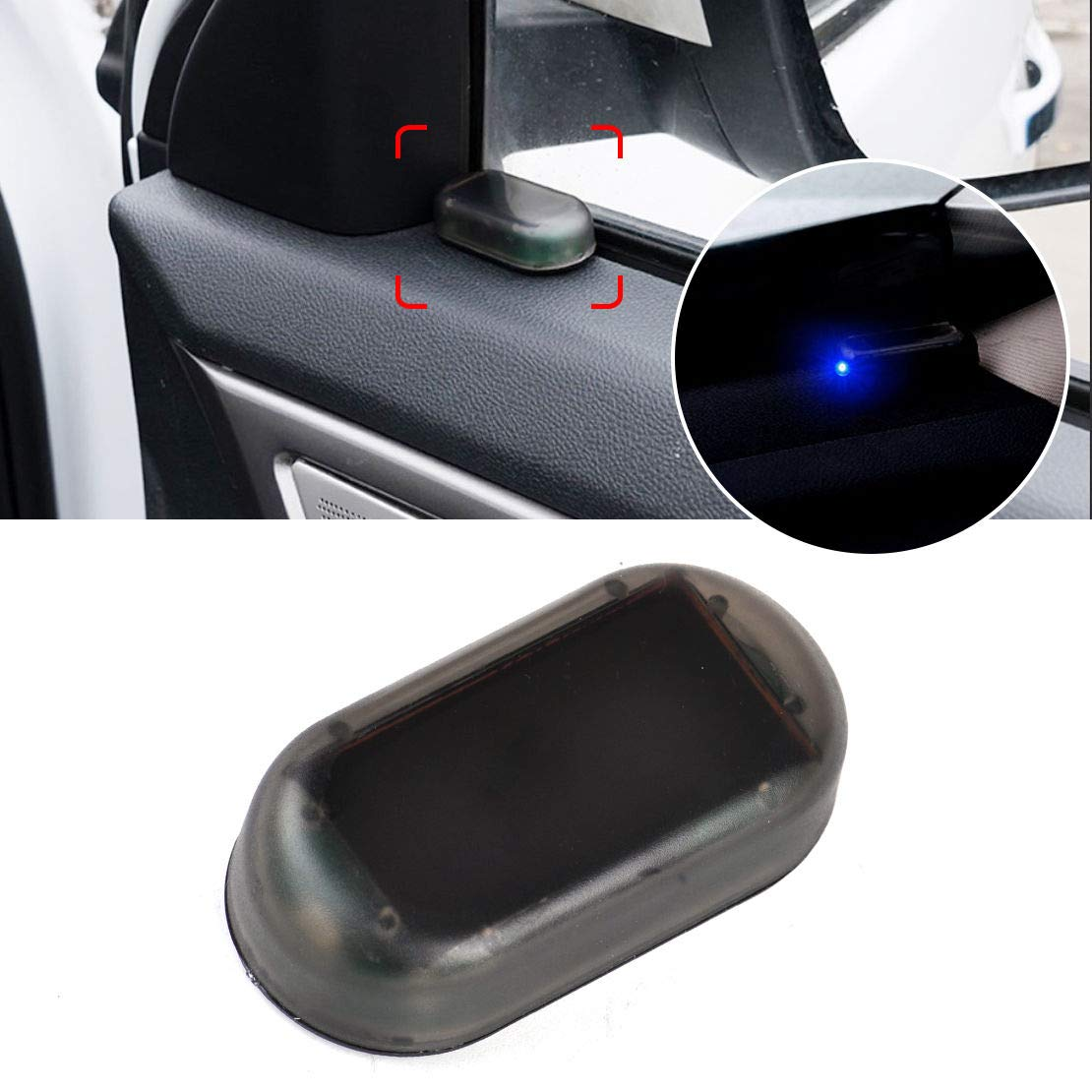 Tmac Red LED Car Alarm System Solar Dummy Imitation Security