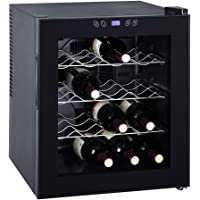 Smad 16 Bottles Thermoelectric Wine Cooler Counter Top Small Wine Cellar, Glass Door