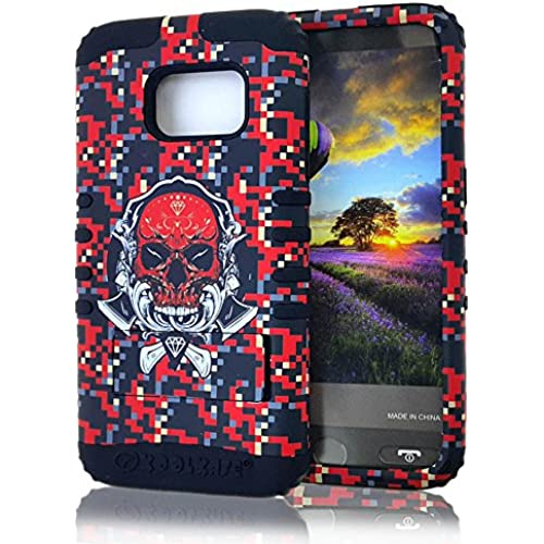 Galaxy S7 Case, Koolkase [Shock Absorb] Hybrid Dual Layer [Heavy Duty] Defender Protective Case Cover for Samsung Galaxy S7 (Skull Red) Sales