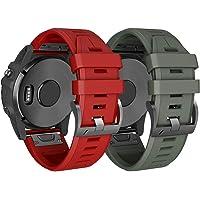 NotoCity Cinturino in Silicone Compatibile con Fenix 3 Easy Fit 26mm Cinturino con Fibbia a Molla a Vite Braccialetto di Ricambio per Fenix 3/Fenix 3 HR/Fenix 5X/Fenix 5X Plus