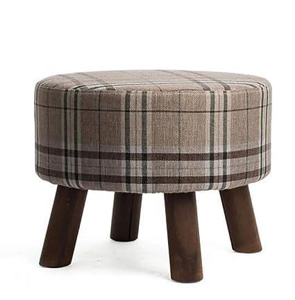 Amazon.com: WOOD Sofa Stool Solid Simple Modern Washable ...