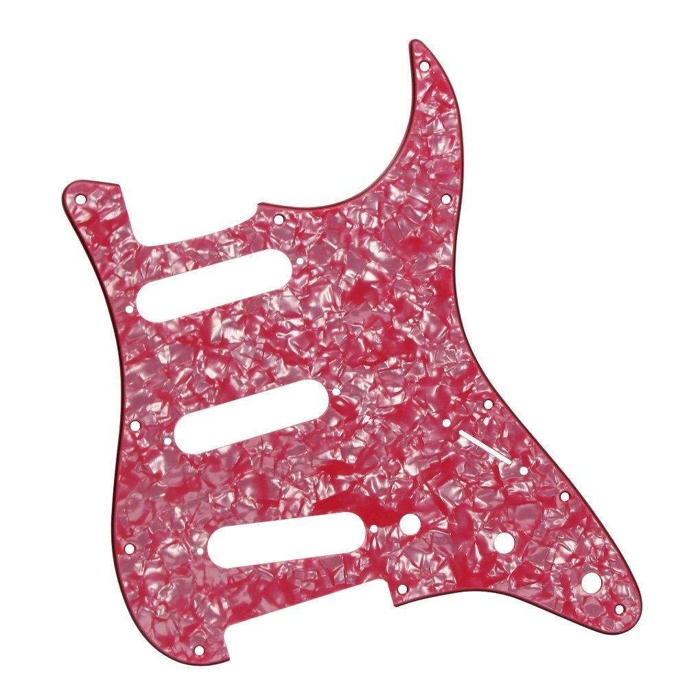 IKN 11 Hole Strat Pickguard Back Plate with Screws Set for Standard Strat Modern Style Guitar Parts 1Ply Matt Black