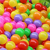 Timeracing 50 Pcs Kids Baby Toy Colorful Soft Plastic Water Pool Ocean Wave Ball Outdoor Funny Toys - 5.5 cm