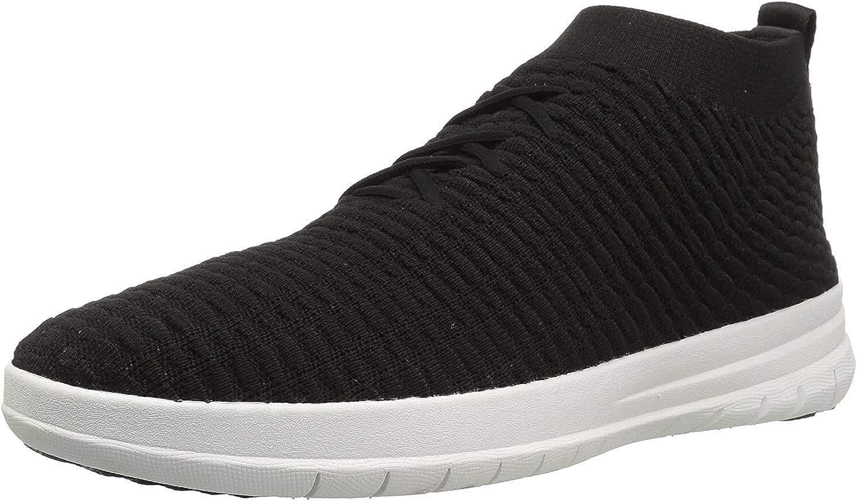 Fitflop Uberknit Slip-on High Top Sneaker Waffle, Baskets Homme Noir Black 001