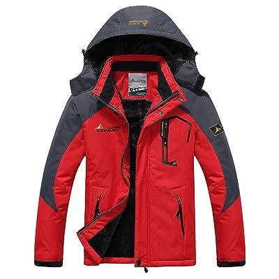 Men/'s Winter Warm Jacket Coats Fleece Lining Thick Waterproof Mountain Jackets