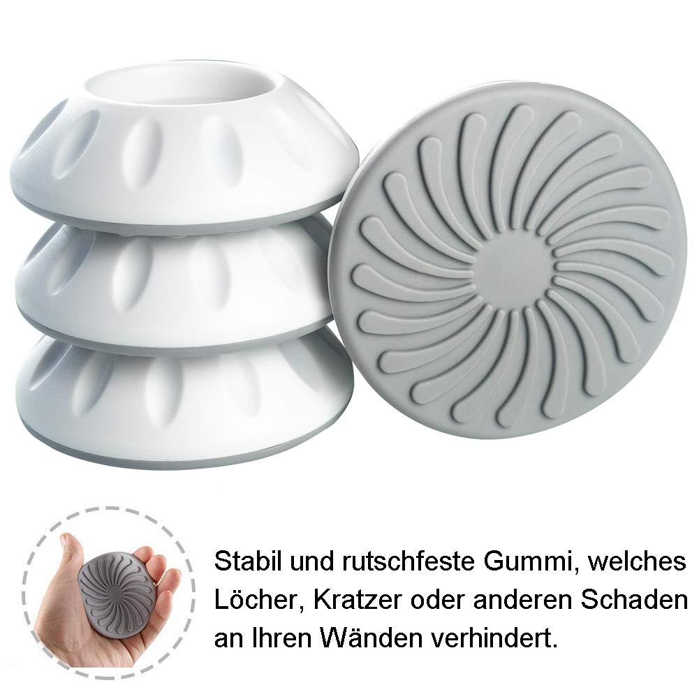 4er Wandschutz Pads für Türgitter Treppengitter Drucktore Baby Kinder Schutz