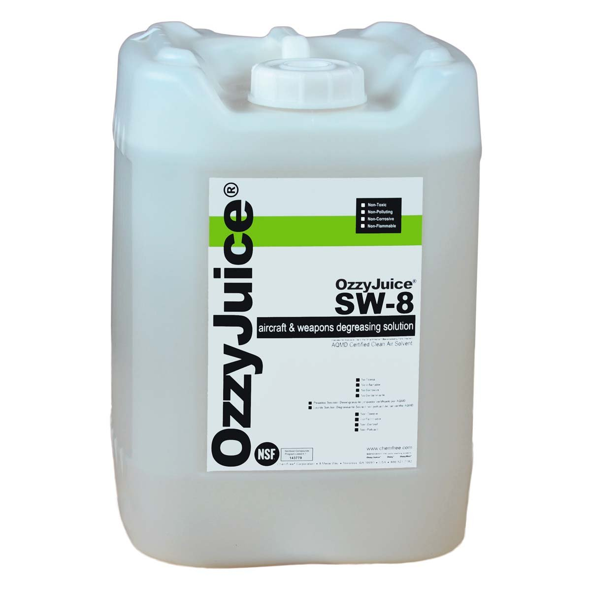 OzzyJuice Aircraft & Weapons Degreasing Solution (SW-8) for SmartWasher Parts Cleaning Systems, 5 Gallon Pail (14722)