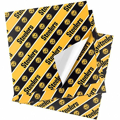 Forever Collectibles Pittsburgh Steelers Folded Wrapping Paper