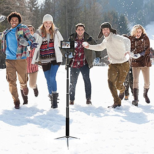 Selfie Stick, UBeesize Extendable Monopod with Tripod Stand and Wireless Shutter Remote for iPhone, Samsung, other Android phones, digital cameras and GoPro by UBeesize (Image #3)