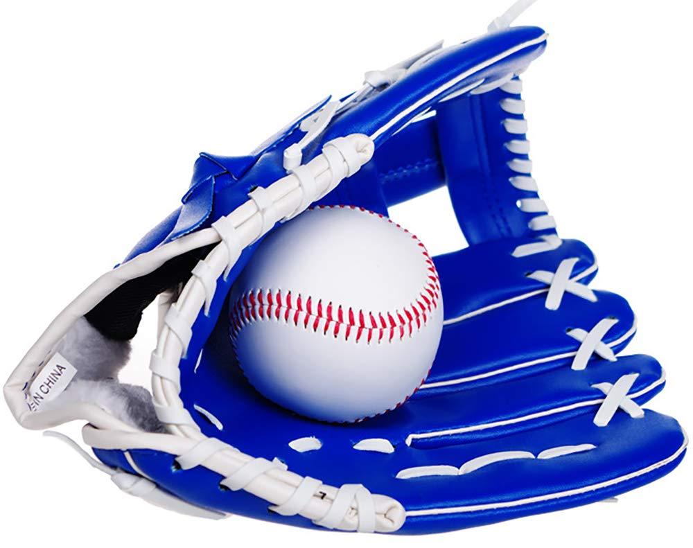 Wenquan,Baseball PU /Épaissir Gants de Baseball Enfant Junior Adulte Full Infield Pichet PVC Softball Gants Color:Brown,Size:10,5 Pouces