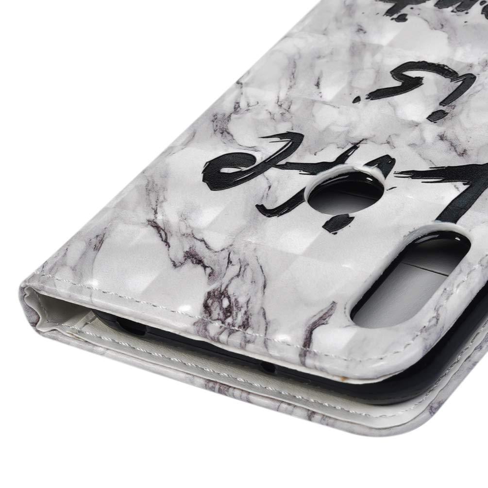 Gato y donut Carcasa Libro de Cuero con Tapa y Cartera Pintado Cover Suave Silicone Antigolpes Huellas Dactilares a prueba de golpes Case Honor 8A Funda para Huawei Y6 2019