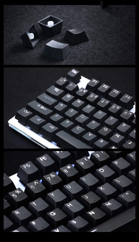 PBT Transparent keycap 108 Key SSSLG Mechanical Keyboard keycap ,Gray Black//White//Grey Blue OEM Height 1.4mm Thickness Matte Feel