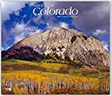 Colorado, Wild & Scenic 2019 12 x 14 Inch Monthly Deluxe Wall Calendar, USA United States of America Rocky Mountain State Nature