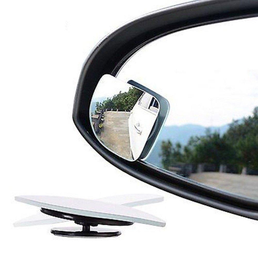 2 Specchietti ausiliari da Auto Specchietto per angolo morto Grandangolo retrovisore Adesivi HT