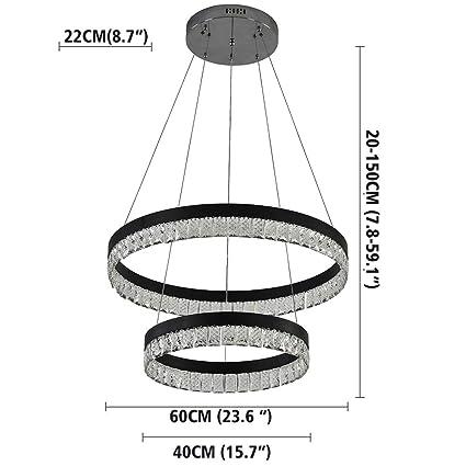 Amazon.com: VALLKIN - Lámpara de techo con 3 anillos ...