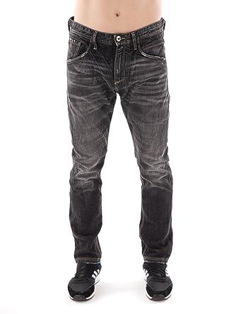 316ff7e51aa1e5 Meltin'Pot Jeans Hose schwarz Denim Used Ziernähte Taschen Knitter MP003  (33/30