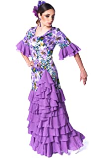 ANUKA Vestido de Mujer para la Danza Flamenco o sevillanas. Made ...