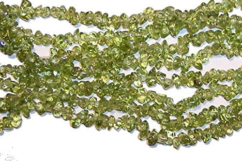 6--7mm Green Peridot Chips Beads Strand 34