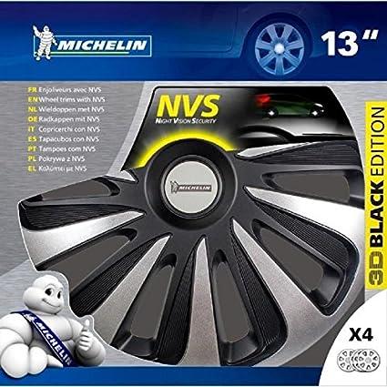 Noir Michelin 009120 bo/îte 4 enjoliveurs 13 NVS 3D Black Edition Set de 4