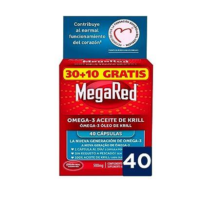 Megared Omega 3 - Aceite de Krill Complemento Alimenticio sin Regusto a Pescado 30+ 10