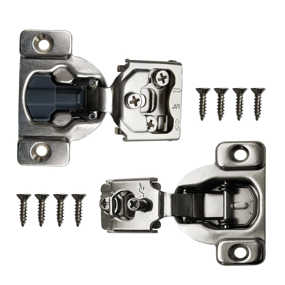 """Boshen Cabinet Cupboard Concealed Inset Hinges for Doors Overlay Self Closing Hinges Face Frame hinge 1/2 Soft Close 2 20 50 Pack with Screw (1/2"""" With Damper(50PCS)) by Boshen (Image #3)"""