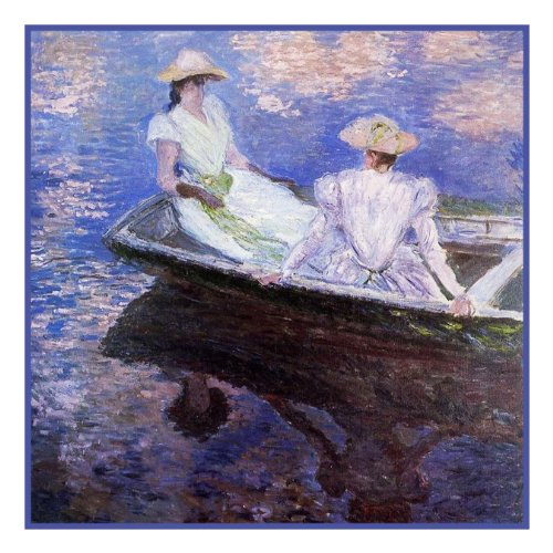 - Young Girls in a Row Boat by Claude Monet Counted Cross Stitch Pattern