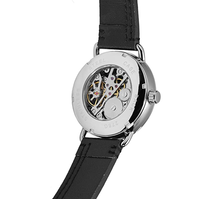 FORSINING - Reloj de Pulsera de Acero Inoxidable para Hombre con Correa analógica: Amazon.es: Relojes