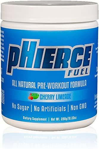 pHierce Fuel All Natural Pre Workout Energy Powder with Beta Alanine and Xylitol – Keto Friendly Athlete-Grade Formula with No Artificial Sweeteners or Banned Subtances, Cherry Limeade, 20 Servings