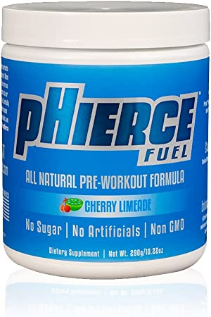 pHierce Fuel All Natural Pre Workout Energy Powder with Beta Alanine and Xylitol - Keto Friendly Athlete-Grade Formula with No Artificial Sweeteners or Banned Subtances, Cherry Limeade, 20 Servings