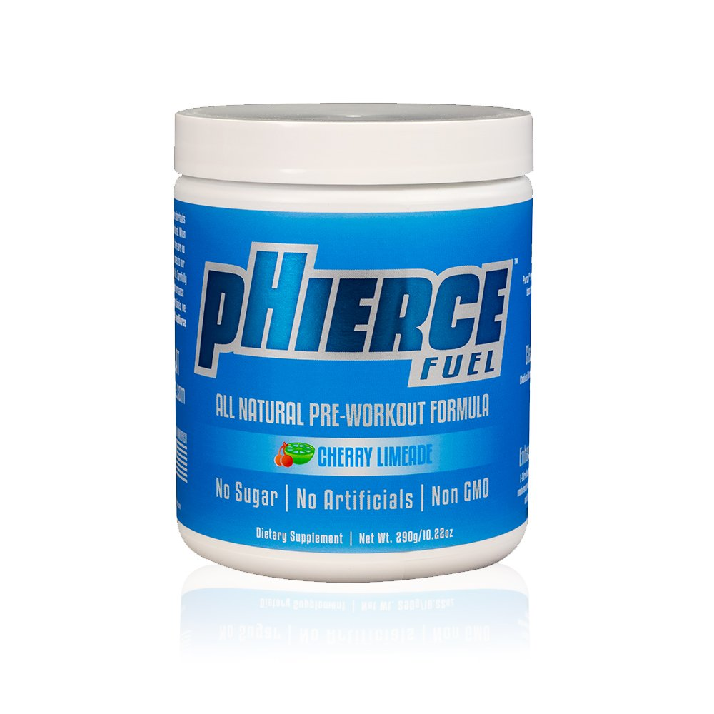 pHierce Fuel All Natural Pre Workout   Patented Ingredients for Clean Energy, Clear Mental Focus, Enhanced Performance   No Artificial Sweeteners, Non-GMO, No Banned Substances (Apple Fusion)