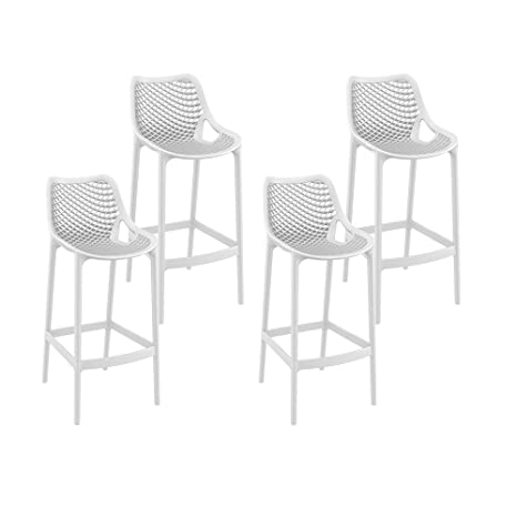 Resol Taburete Alto Grid - Color Blanco, Set de 4 Unidades