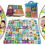 Brand New Portable 200 x 180cm 2 Side Kids Toddler Play Crawl indoor outdoor Crawling Educational Game Baby Play Mat Soft Foam Blanket Rug Carpet
