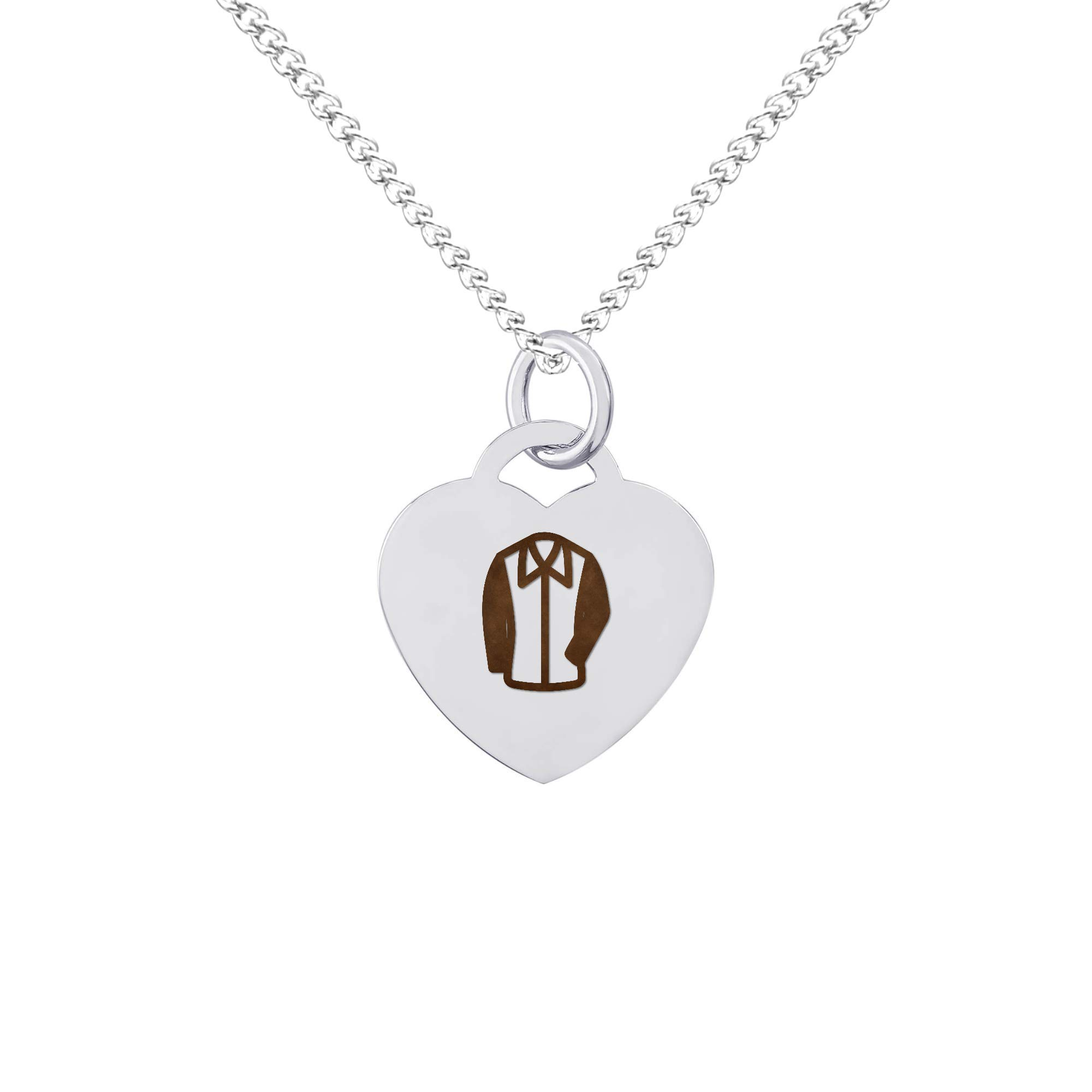 Loft Jewelry Jacket Clothing Polished Stainless Steel Charm Necklace Chain, Item 607791
