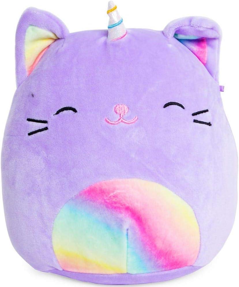 SQUISHMALLOWS Tabby Cat Unicorn Plush 8 inch Purple Rainbow