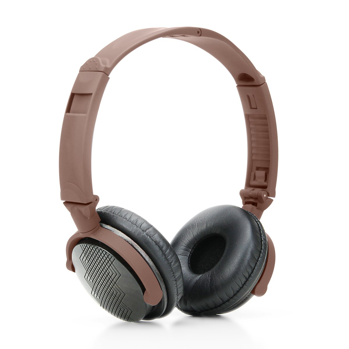 Wood Headphones by GOgroove - AudioLUX WD Natural Wooden Over Ear Headphones with High-Fidelity Drivers, In-Line Microphone, Braided Detachable Cable, Compact Folding Design and Hemp Carrying Bag by GOgroove
