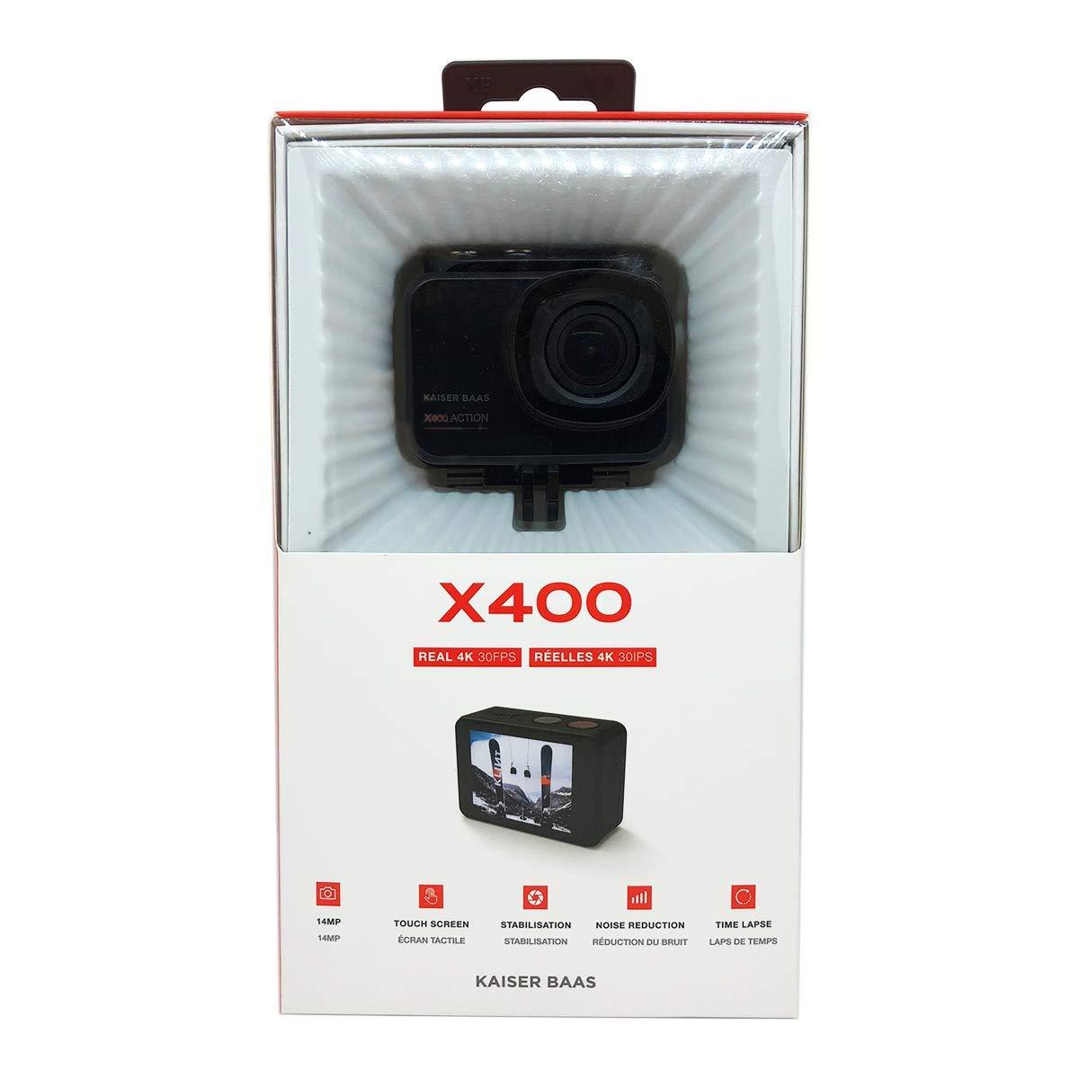 Amazon.com: Kaiser Baas X400 Cámara de acción – Real 4K ...