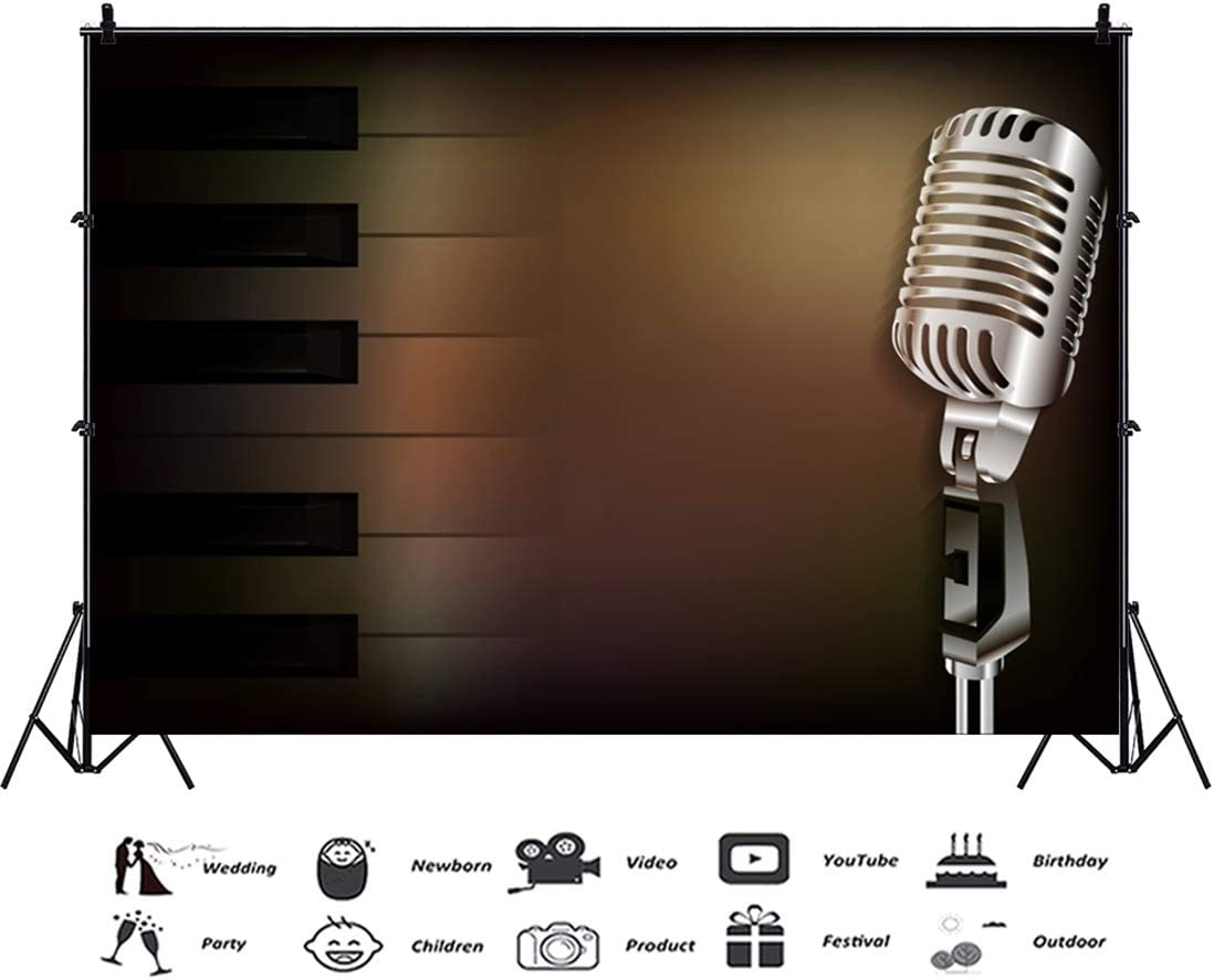 PHSFUBEL Vinyl Musical Cute Backgrounds Party Prom Backdrops Event Photobooth 10x13 Feet