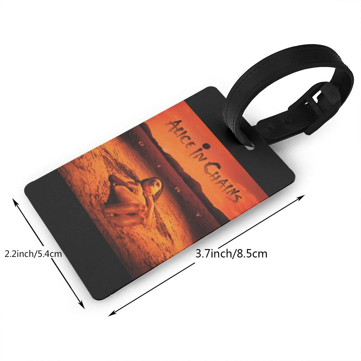 2.2x3.7inch HushuangPm Classic Alice in Chains Tags Luggage Etag Holders PVC Luggage Tags
