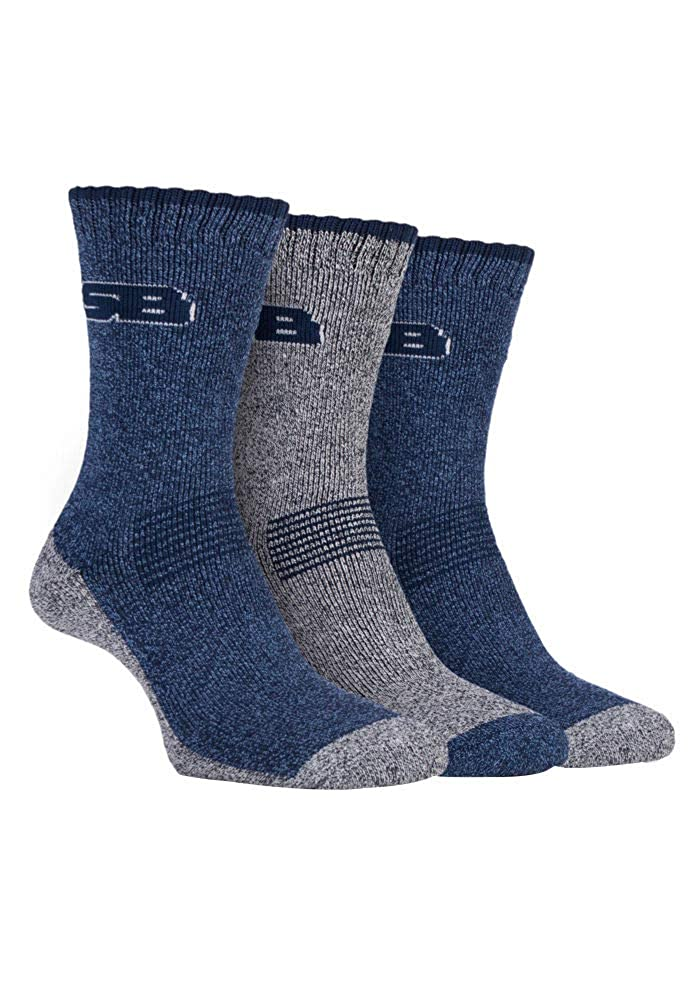 8ae7ba0bf79 Ladies 3 Pair Storm Bloc Performance Boot Socks Navy 4-8 Ladies at Amazon  Women s Clothing store