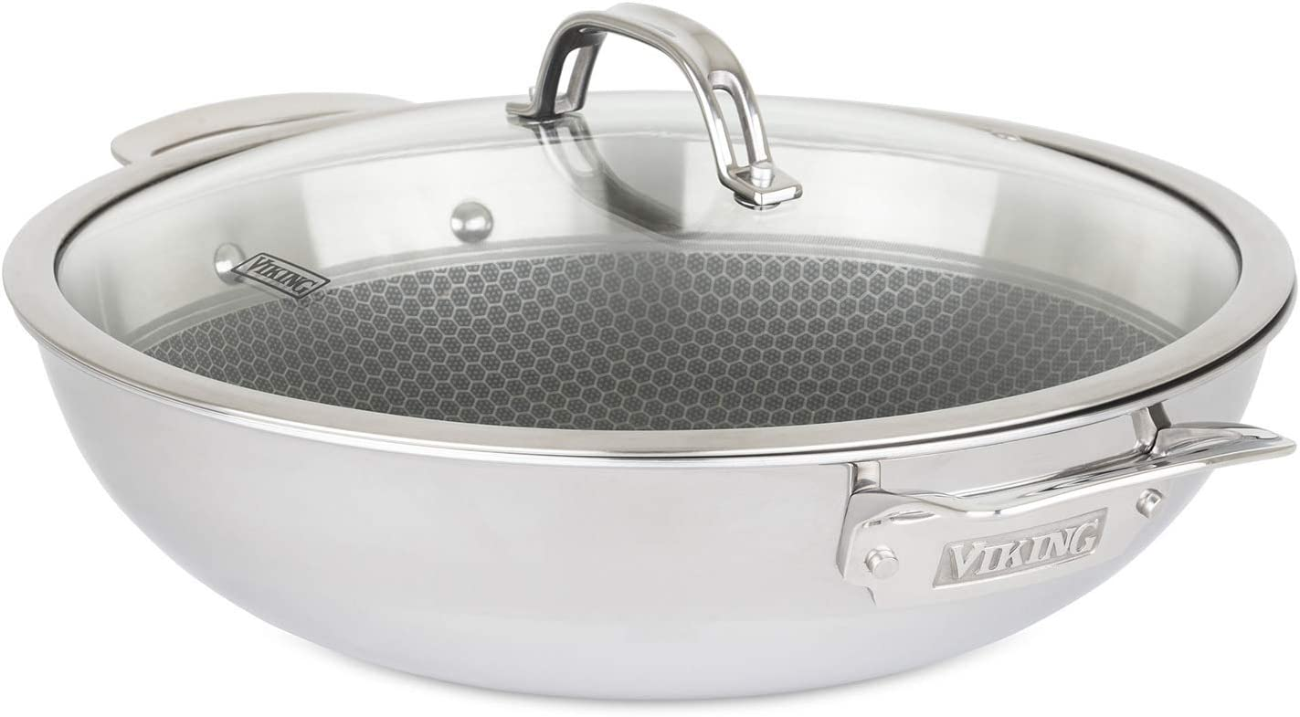 Viking Culinary 40121-1712C Viking Hybrid Plus All-in-1 Pan, 5.7 qt, Stainless Steel