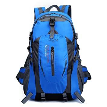 Skytower 55L senderismo mochila para al aire libre senderismo viajes escalada Camping senderismo impermeable montaña Top montañismo bolsa, azul: Amazon.es: ...