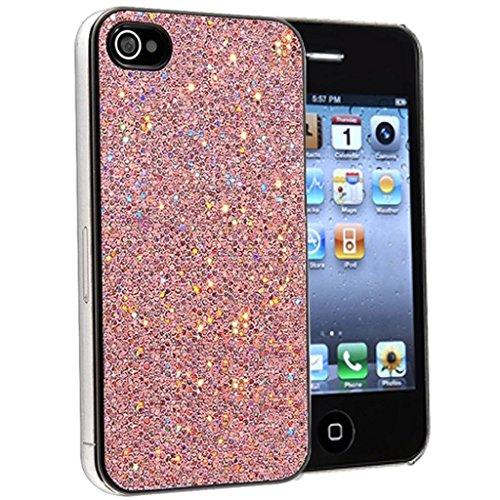 Nouveau iPhone 5s Bébé rose Mousseux Paillettes clip on Dur Coque couverture case cover Pare-chocs avec Stylet par Mobile Case Mate