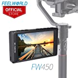 FEELWORLD FW450 4.5 inch DSLR Camera Field Monitor IPS 1280x800 Small HD Video Assist with 4K HDMI Input Output Peaking Focus Portable LCD Monitor