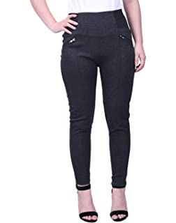 bbe834b91599a HDE Womens Plus Size Pants Skinny Ponte Knit Leggings Slimming Office  Trousers