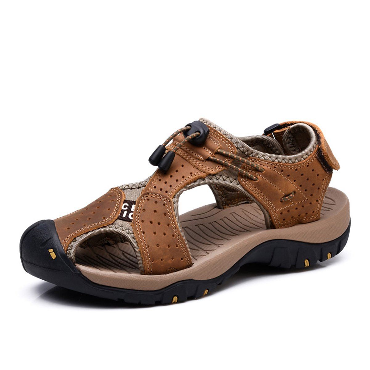 VENSHINE Mens Sports Sandals Summer Leather Outdoor Fisherman Beach Athletics Walking Hiking Sandals
