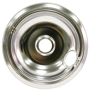 """FRIGIDAIRE 5303935054 Drip Bowl,Chrome,8"""",Univ"""