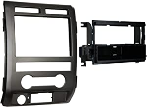 Metra 99-5822B Single DIN Installation Dash Kit for 2009-2010 Ford F-150 Non-NAV Models with Driver Info Switches in Factory Panel(Matte Black)