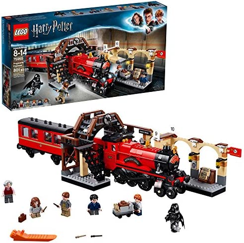 Lego Harry Potter Hogwarts Express 75955 Toy Train Building Set Includes Model Train And Harry Potter Minifigures Hermione Granger And Ron Weasley 801 Pieces Toys Games